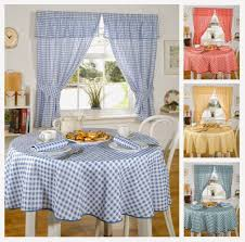 Yellow Kitchen Curtains Kitchen Curtain And Blinds Trends With Blue Yellow Curtains
