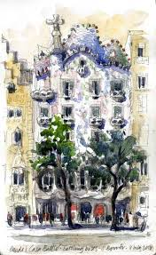 overcoming my fear of heights for gaudí urban sketchers