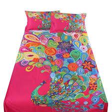 Peacock Feather Comforter Set Bedding Set Bohemian Bedding Sets Amazing Bohemian Bedding Twin