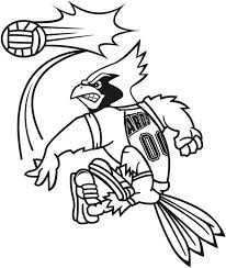 ards mascot volleyball service coloring download