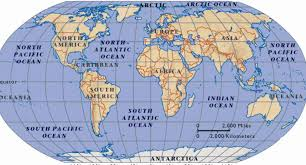 world map oceans seas bays lakes map of the world and oceans holidaymapq