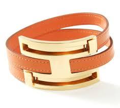 hermes bracelet leather images Hermes orange leather bracelet pusupusu gold cz023856 hermes jpg