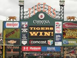 Comerica Park Map Detroit Tigers U2013 Changing Gears