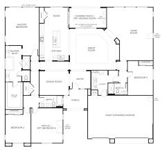 5 bedroom house plans single story bathroom floor one pardee homes