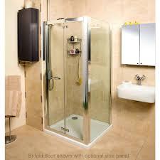 roman embrace bi fold door shower enclosure uk bathrooms