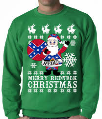 rebel santa clause ugly christmas sweater crew neck sweat shirt