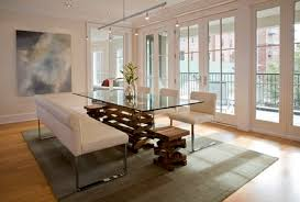 Glass Top Dining Room Table Sets Modern Modern Glass Dining Room Table Extendable Clear Glass Top