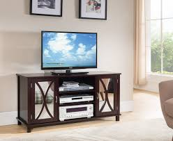 Wooden Tv Stands And Furniture Kings Brand Furniture Tv Stand Storage Console Mirrored Doors