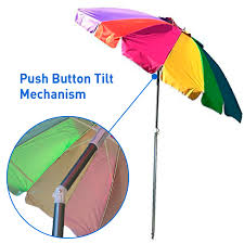 easygo rainbow beach umbrella kids portable wind beach umbrella