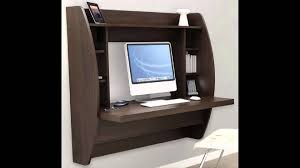 Fold Away Wall Mounted Desk Beautiful Wall Mounted Computer Desk Youtube