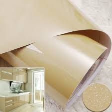 yazi glossy champagne removable pvc shelf liner sticker drawer