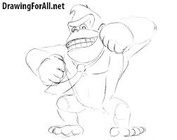 how to draw donkey kong drawingforall net