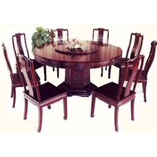 oriental dining room set oriental dining table with lazy susan 54 wide solid rosewood
