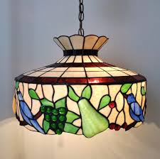 stained glass light fixtures home depot antique tiffany chandelier vintage stained glass swag l light