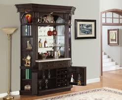 Dry Bar Furniture Ideas by Bar Dark Brown Square Classic Wood Bar Cabinet Furniture Design