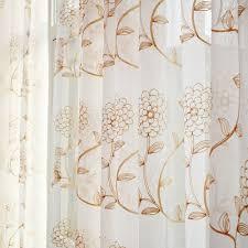 Pinch Pleated Sheer Draperies Tan Flower Elegant Pinch Pleated Sheer Curtains