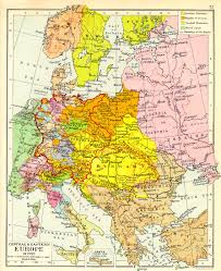 Map Central Europe by Europe 1795 Map