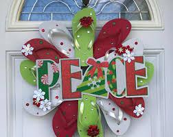 flip flop wreath etsy