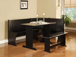 Small Breakfast Nook Table by Dining Room Black Wooden Corner Breakfast Nook Set For Elegant