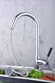Solid Brass Kitchen Taps by Contemporary Solid Brass Pull Down Kitchen Tap Chrome Finish