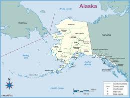 Alaska Map Outline by Alaska County Outline Wall Map Maps Com