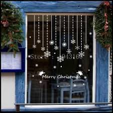 Double Sided Christmas Window Decorations by Full Colour Traditional Wreath Static Cling Christmas Window