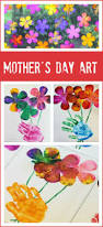 gorgeous mixed media bouquet mother u0027s day art kids hands