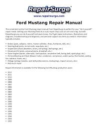 2005 ford mustang repair manual ford mustang repair manual 1990 2012