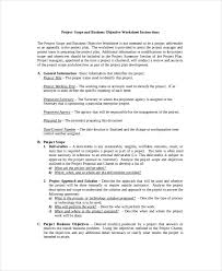 project scope template 8 free word excel pdf documents
