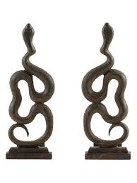 snake andirons set of 2 by arteriors home at gilt