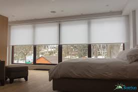 modern bedroom blinds on motorized roller blinds automated window