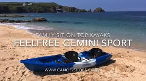 gemini jeep feelfree gemini sport family sit on top kayak youtube