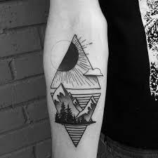 41 geometric mountain tattoo designs on mountains greetyhunt
