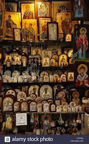 greek orthodox religious icons for sale outside agios spyridon