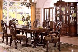 Dining Room Chairs Cherry Tuscany Antique Cherry Formal Pedestal Dining Table Set
