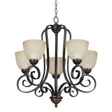Commercial Electric Chandelier Luminance Provano 5 Light Tique Bronze Chandelier F5255 26 The