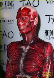 Anatomy Halloween Costumes Heidi Klum Dead Body Halloween Costume Photo 2595253 Heidi