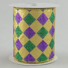 mardi gras ribbon 4 mardi gras harlequin diamond ribbon 10 yards rm9635