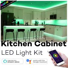 battery operated led lights for kitchen cabinets best wifi controlled kitchen cabinet lighting high tech