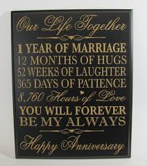 gifts for wedding anniversary 1st wedding anniversary wall plaque gifts for