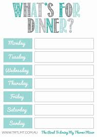 menu planners templates best 25 menu planning printable ideas on weekly food