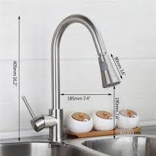 brushed nickel kitchen faucet modern kitchen mixer tap swivel