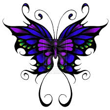 papillon clipart purple butterfly pencil and in color papillon