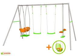 siege balancoire b portique balançoire métal axion 2 20m luca siège bébé amca