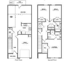 Townhomes Floor Plans Palm B Iron Horse Townhomes Crestview Florida D R Horton