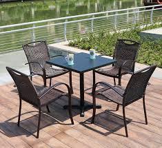 og008 rattan iron outdoor table set balcony villa outdoor