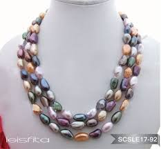 color pearl necklace images Pearl and multi color baroque pearl necklace from bangladesh in jpg