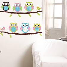 aliexpress com buy free shippingsix cute owl tree diy wall aliexpress com buy free shippingsix cute owl tree diy wall sticke wallpaper paste art deco mural children s indoor home decoration cartoon decals from