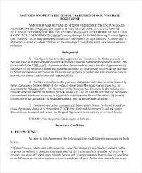 sample stock purchase agreement form 7 free documents in