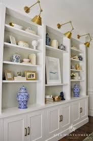 White Bookcase With Storage Sita Montgomery Interiors My Home Office Makeover Reveal Sita